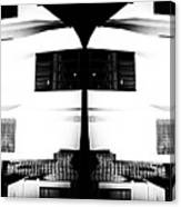 Monochrome Building Symmetry Abstract Canvas Print