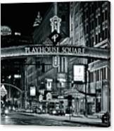 Monochrome Grayscale Palyhouse Square Canvas Print