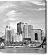 Monochrome Pittsburgh Panorama Canvas Print