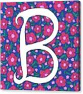 Monogram B Canvas Print