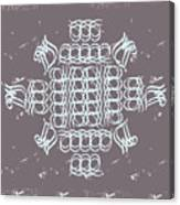 Monogram Qm Ivory Slate Canvas Print