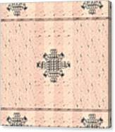 Monogram Qm Stripes Mauvecharcoal 2 Canvas Print