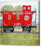 Monon Wood Caboose Train C 283 1950s Canvas Print