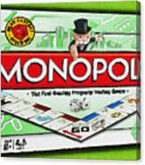 Monopoly Board Game Painting Canvas Print