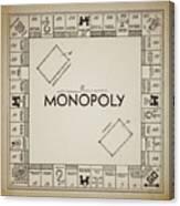 Monopoly Board Patent Vintage Canvas Print