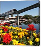 Monorail At Disney's Epcot Canvas Print