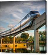 Monorail At Golden Hour Canvas Print