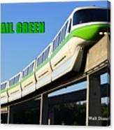Monorail Green Wdwrf Canvas Print