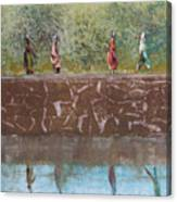 Monotype - Water Line Canvas Print
