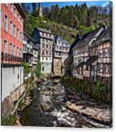 Monschau Village View Canvas Print