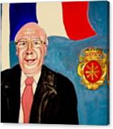 Monsieur Jean Claude Darque. Le Maire De Auchy Les Hesdin Canvas Print