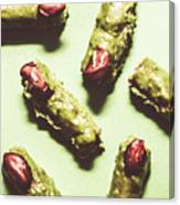 Monster Fingers Halloween Candy Canvas Print