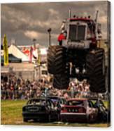 Monster Truck Destruction  Canvas Print