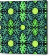 Monstera Leaves Pattern Canvas Print