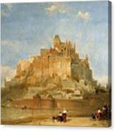 Mont St Michel From The Sands By David Roberts Canvas Print