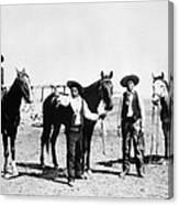 Montana: Cowboys, C1895 Canvas Print