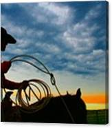 Montana Cowgirl ... Montana Art Photo Canvas Print