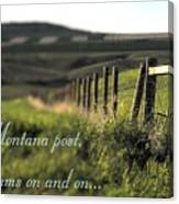 Montana Dream Canvas Print