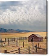 Montana Farmyard Canvas Print