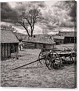 Montana Ghost Town Canvas Print