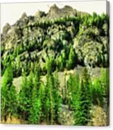 Montana Mountains In Autumn  Canvas Print