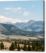 Montana Mountains Canvas Print