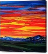 Montana Sunset Colors                     72 Canvas Print