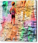 Montanita Kid With Dog Canvas Print