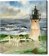 Montara Lighthouse, Plein Air Canvas Print