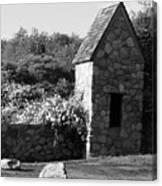 Montauk Guard House 2 B W Canvas Print
