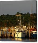 Montauk Harbor At Dawn Canvas Print