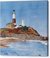 Montauk Lighthouse At Turtle Cove Canvas Print