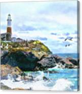 Montauk Point Light Canvas Print