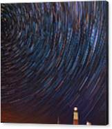 Montauk Star Trails Canvas Print