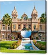 Monte Carlo Casino And Sky Mirror In Monaco Canvas Print