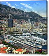 Monte Carlo Harbor View Canvas Print