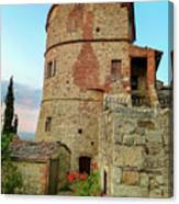 Montefollonico Stone Tower And Fortress Canvas Print
