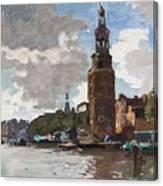 'montelbaanstoren' In Amsterdam By Cornelis Vreedenburgh Dutch 1880-1946 Canvas Print
