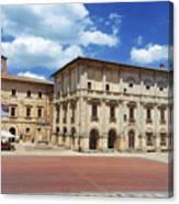 Montepulciano Piazza Grande Canvas Print