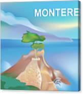 Monterey Bay California Horizontal Scene Canvas Print