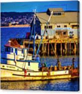 Monterey Bay Fishing Boat Canvas Print