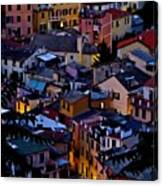 Monterosso By Night Canvas Print