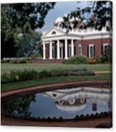 Monticello Reflections Canvas Print