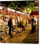 Montmartre Artist Square Paris Canvas Print