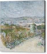 Montmartre  Behind The Moulin De La Galette Paris, July 1887 Vincent Van Gogh 1853  1890 Canvas Print