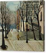 Montmartre Steps In  Paris Canvas Print