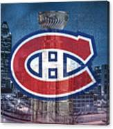 Montreal Canadiens City Canvas Print