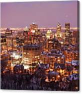 Montreal City Lights Canvas Print