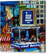 Montreal City Paintings By Streetscene Specialist Carole Spandau  Over 500 Prints Available Canvas Print