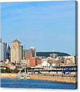 Montreal City Skyline Over River Panorama Canvas Print